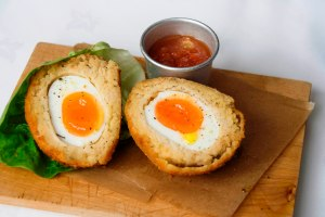 Butterbean scotch egg